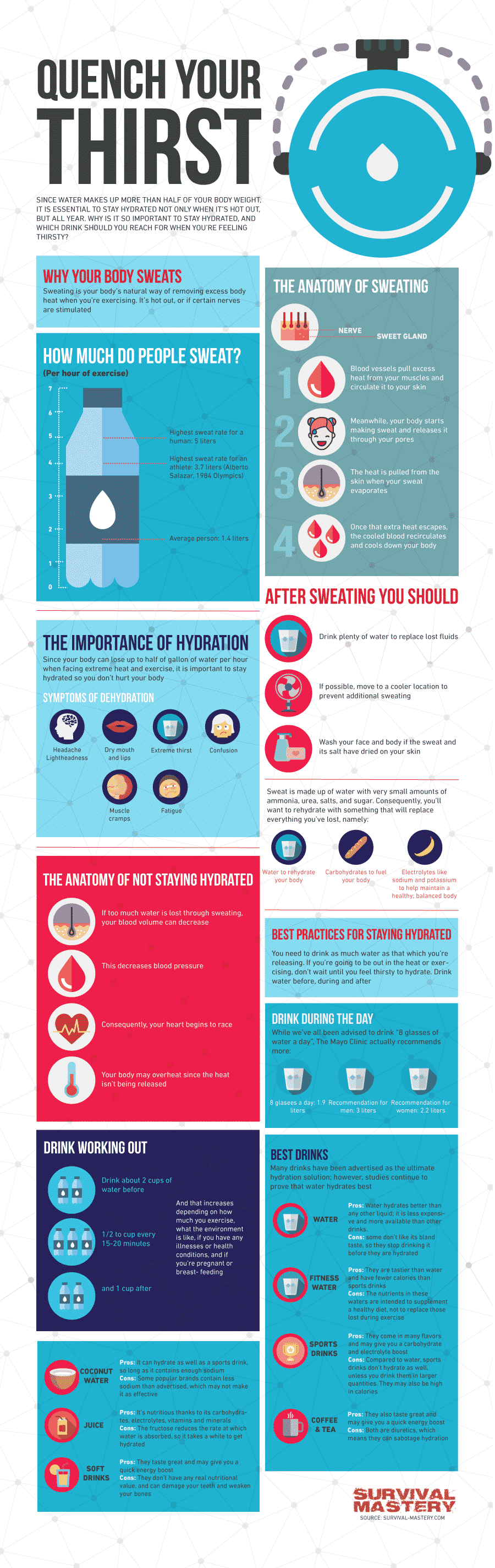 Best Hydration Drink infographic
