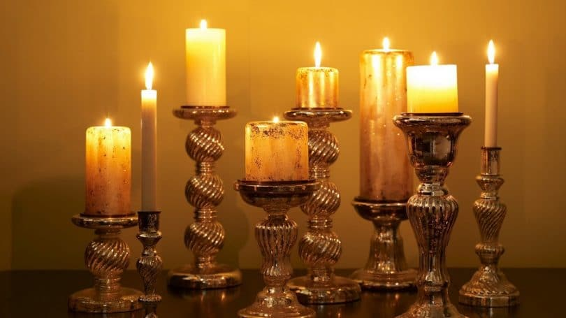 Candles as light