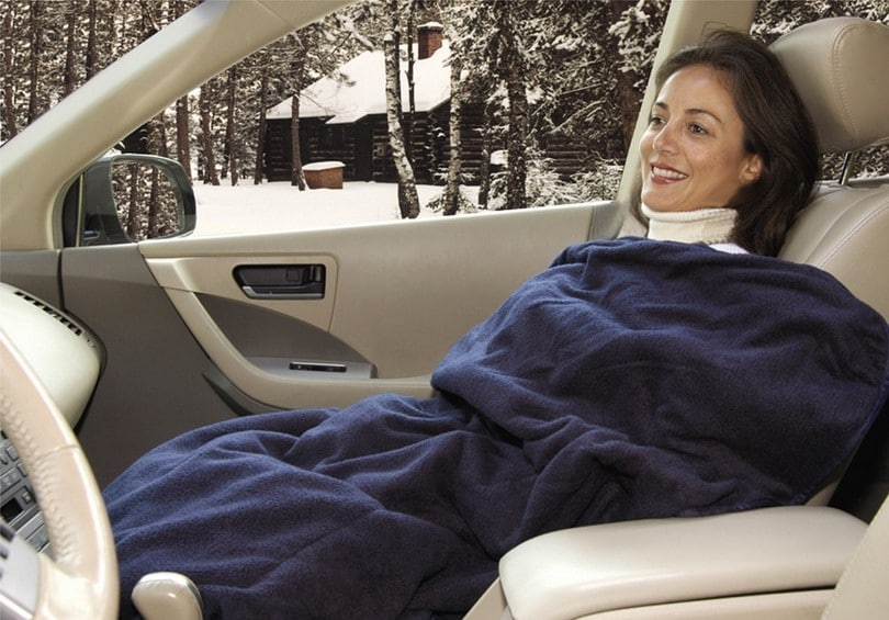 Car cozy 2 electric fleece blanket