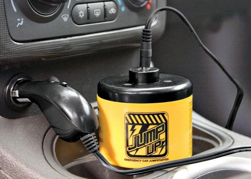 Closed hood car jump starter