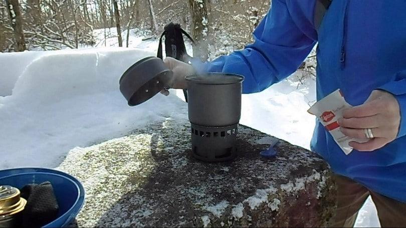 Esbit lightweight camping cook set