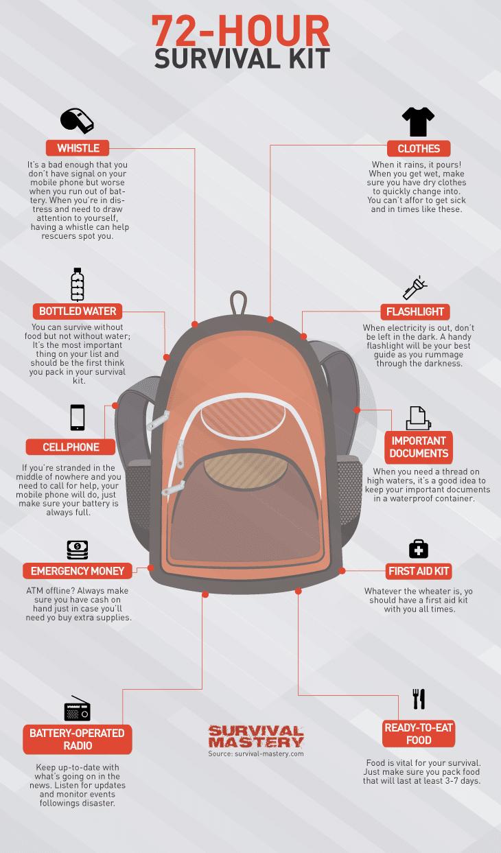 Survival kit infographic