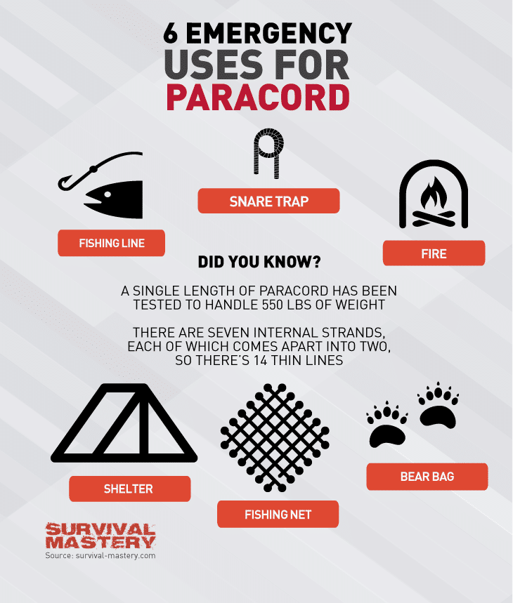 Uses for Paracord infographic
