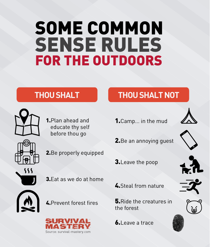 Common outdoors rules infogrpahic
