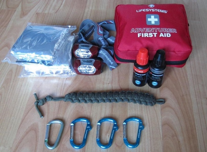 Paracord with first aid kit