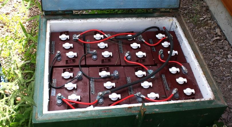 Backup battery box