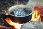 boiling water outdoor