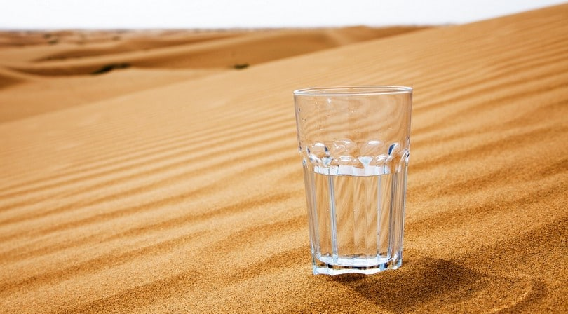 Glass in the desert