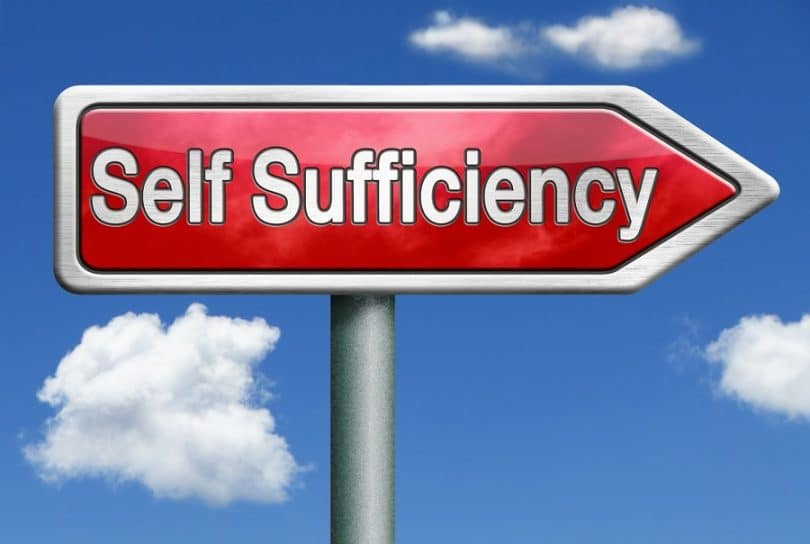 Self Sufficiency sign