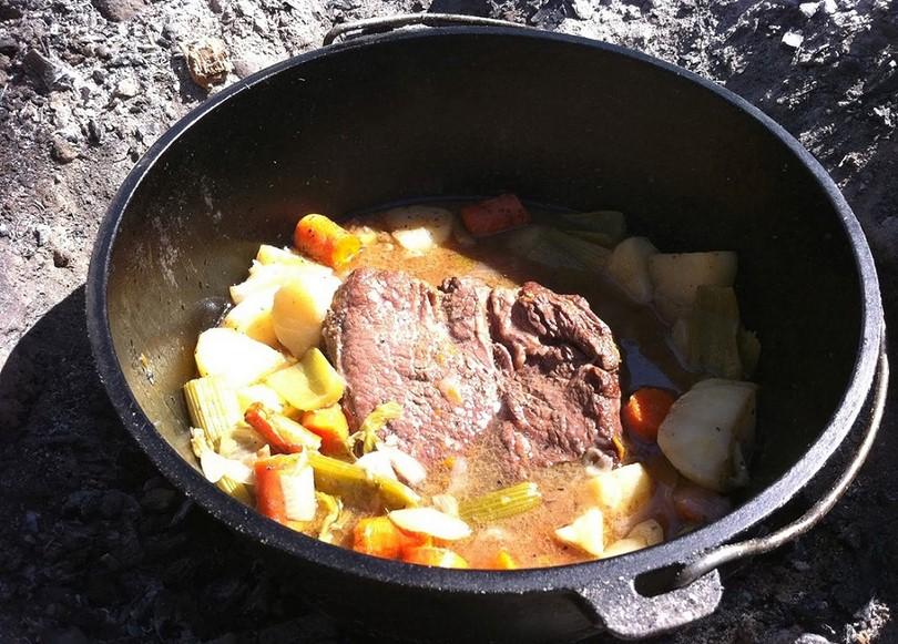 Pot roast using a Dutch oven