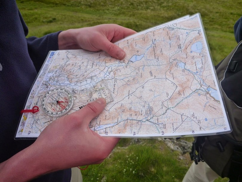 Learn to read a map and use compass