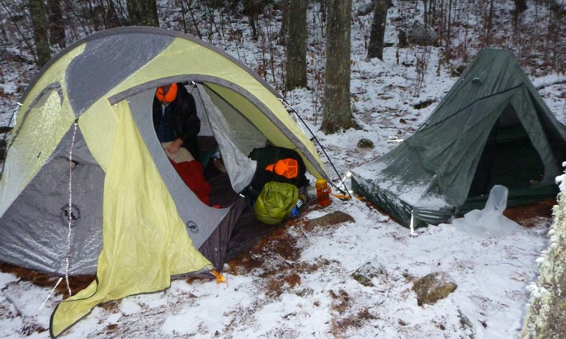 Tent in winter time