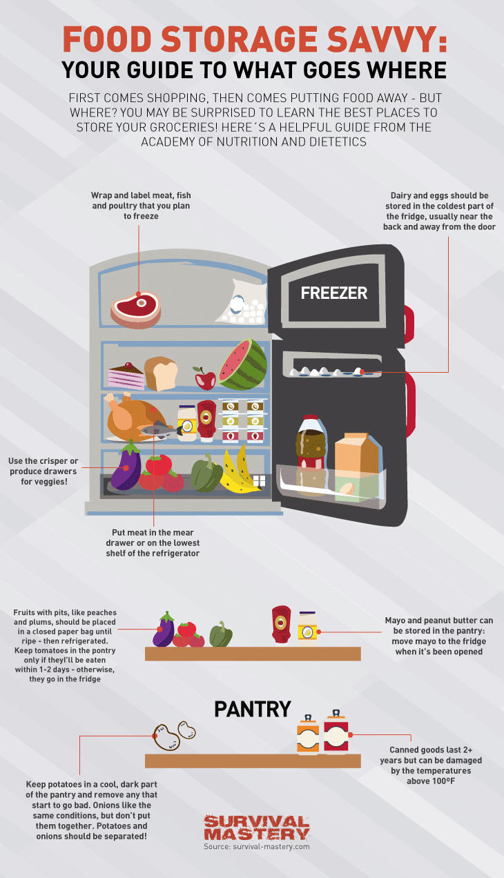 Food storage infographic