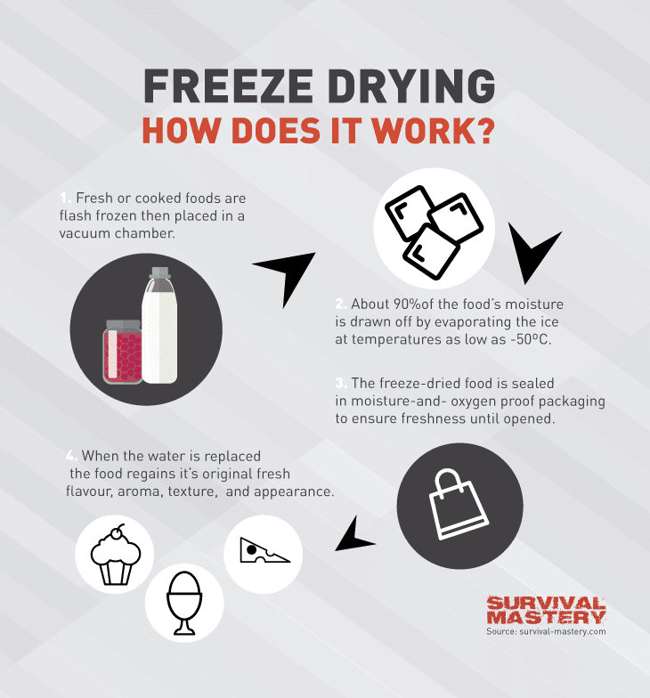Freeze drying infographic