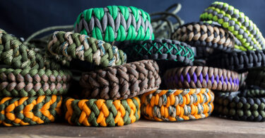 Multiple Colored Paracord Bracelets
