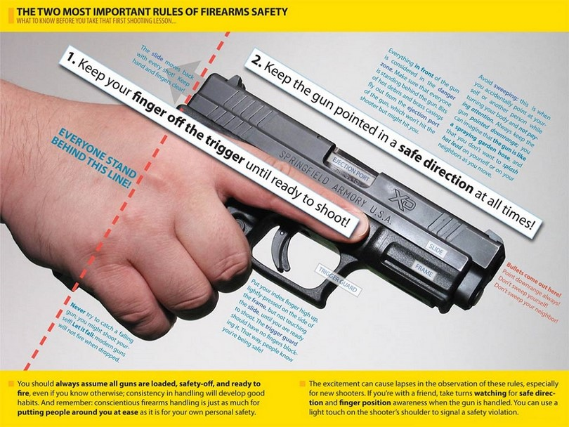 Rules of firearm safety Infographic