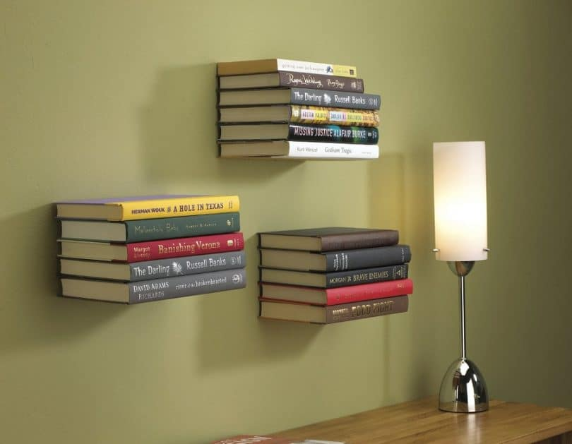 Umbra Conceal Wall Book Shelf Small Silver This Type Of Hidden Gun Cabinet