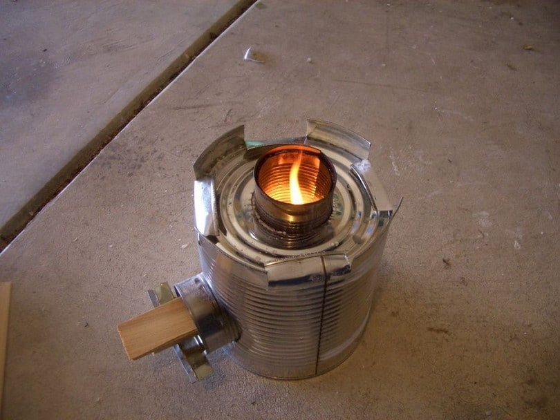 Advanced metal can stove