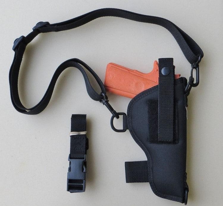 Black Nylon 5concealed carry shoulder holster