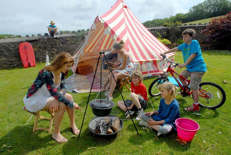 Camping with kids and games