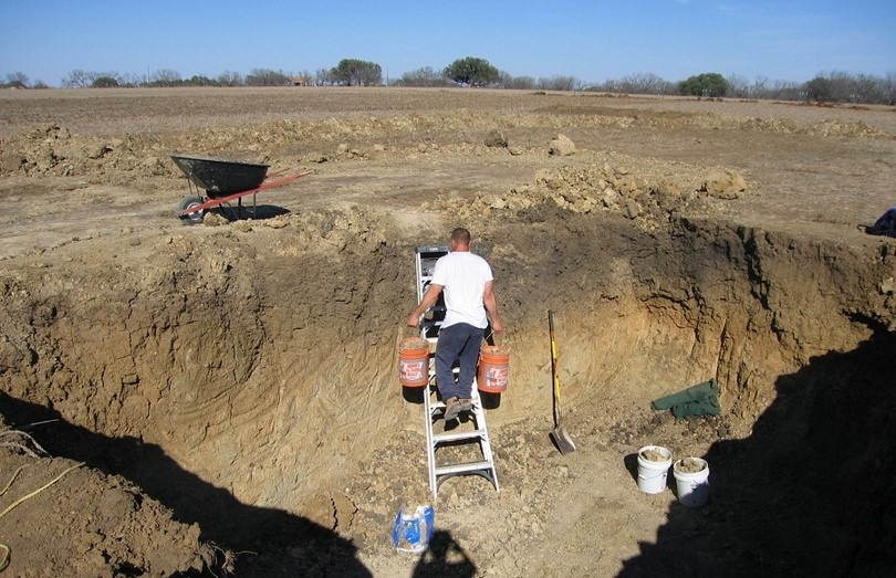 Digging to make a shelter