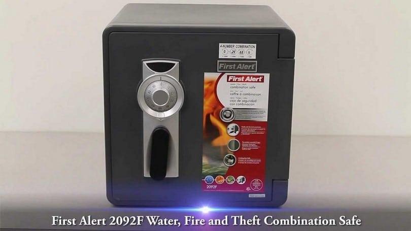 First Alert 2092DF Waterproof 1-Hour Fire Safe with Digital Lock, 1.3 Cubic Feet