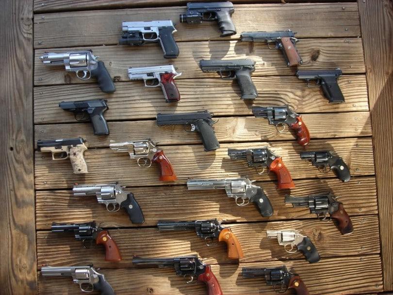 Handguns collection