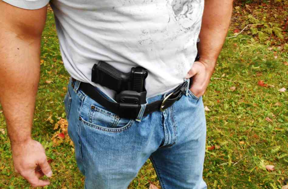 Person is Using Holster