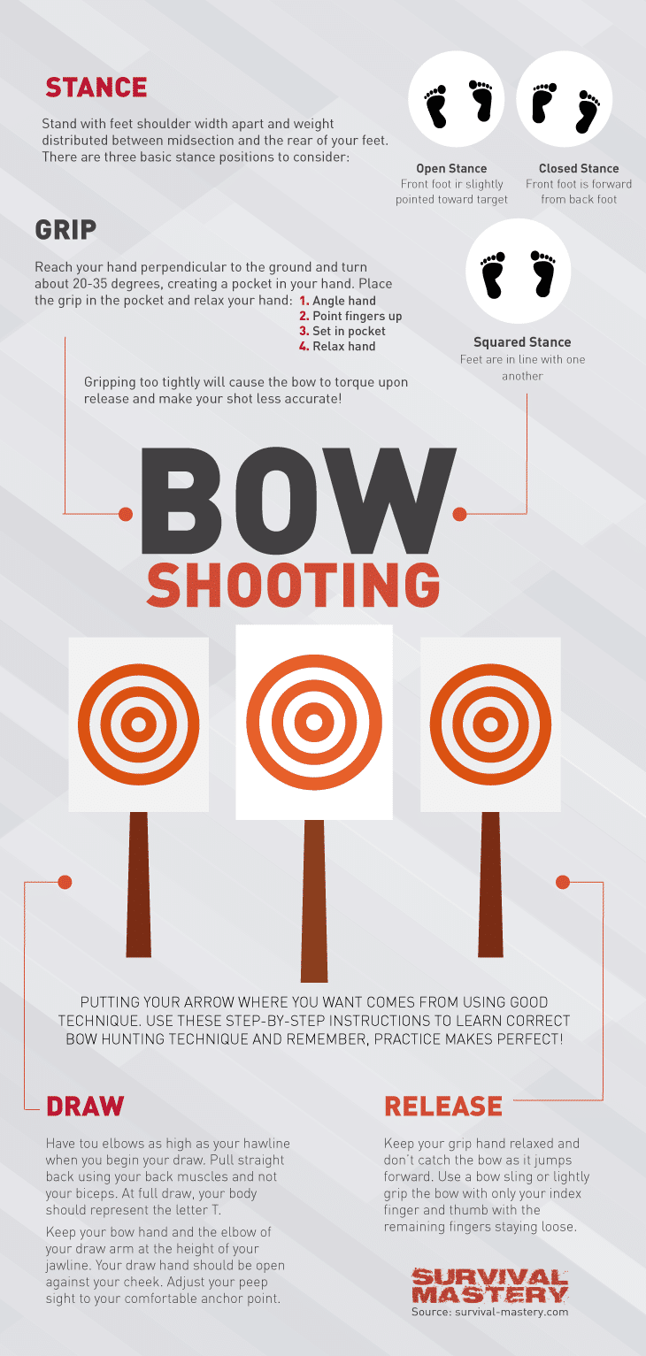 Bow shooting infographic