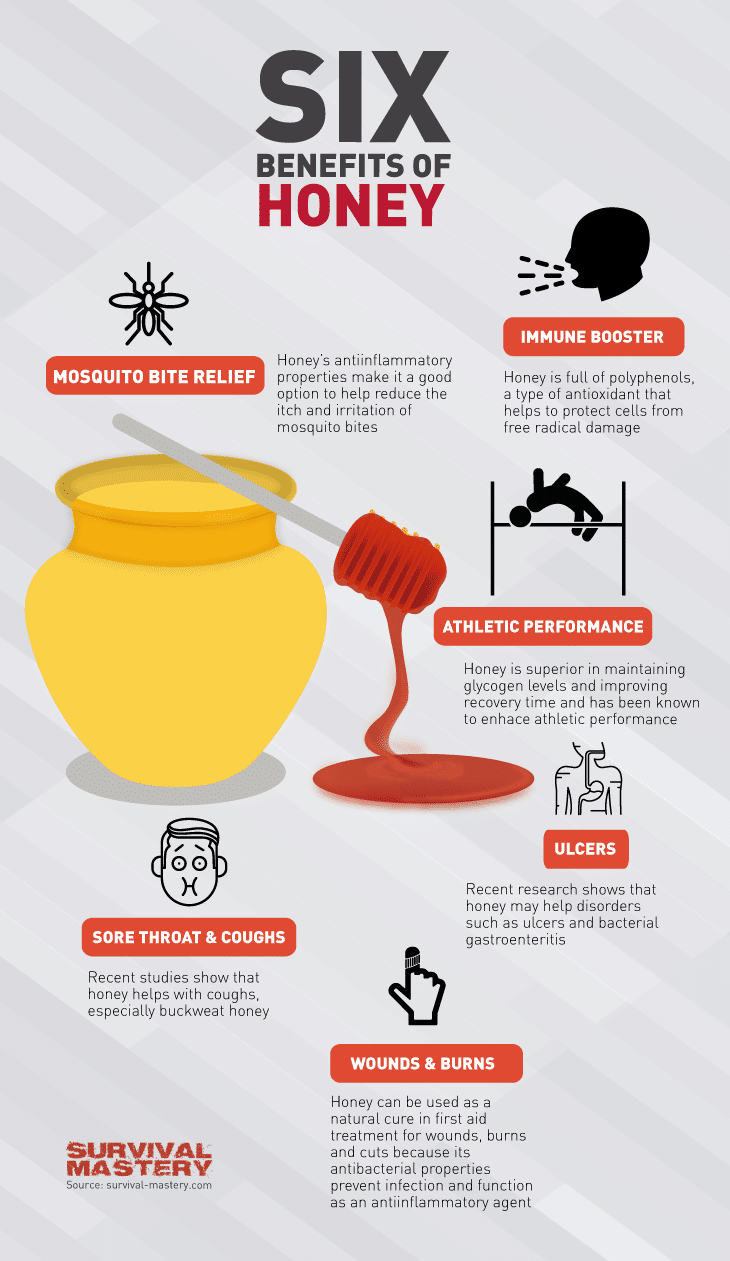 Benefits of honey infographic
