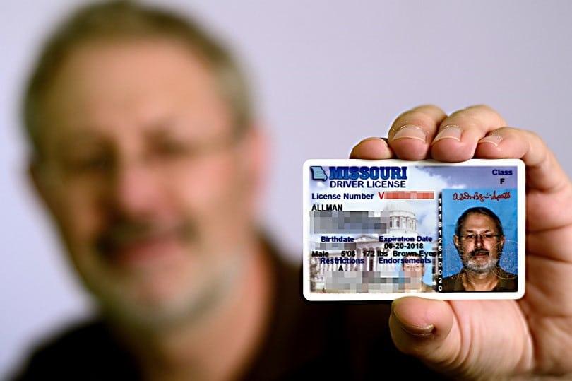 Missouri driver licence