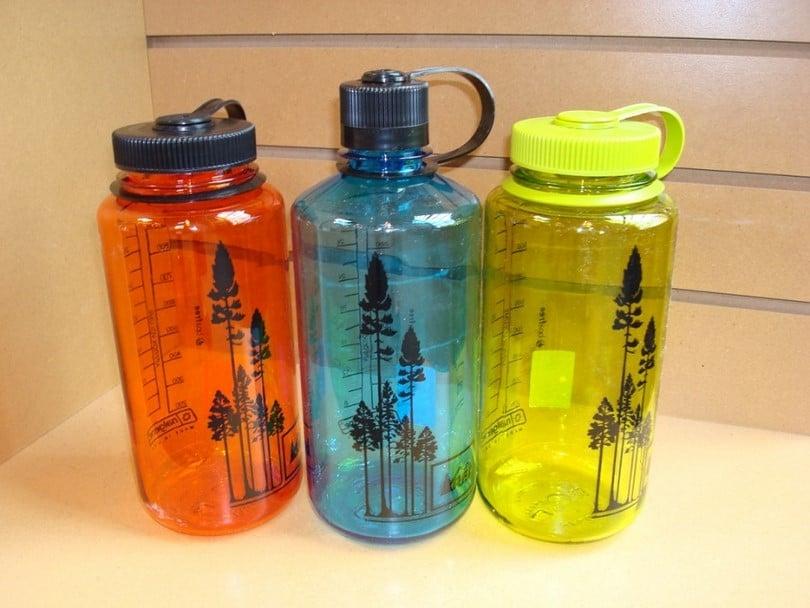 Multi-use plastic water bottle