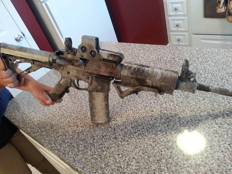 Piston AR-15 in the kitchen