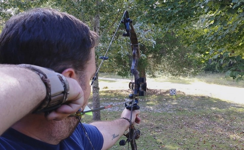 Practice bow targeting