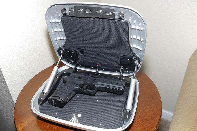 The GunBox Biometric Hand Gun Safe