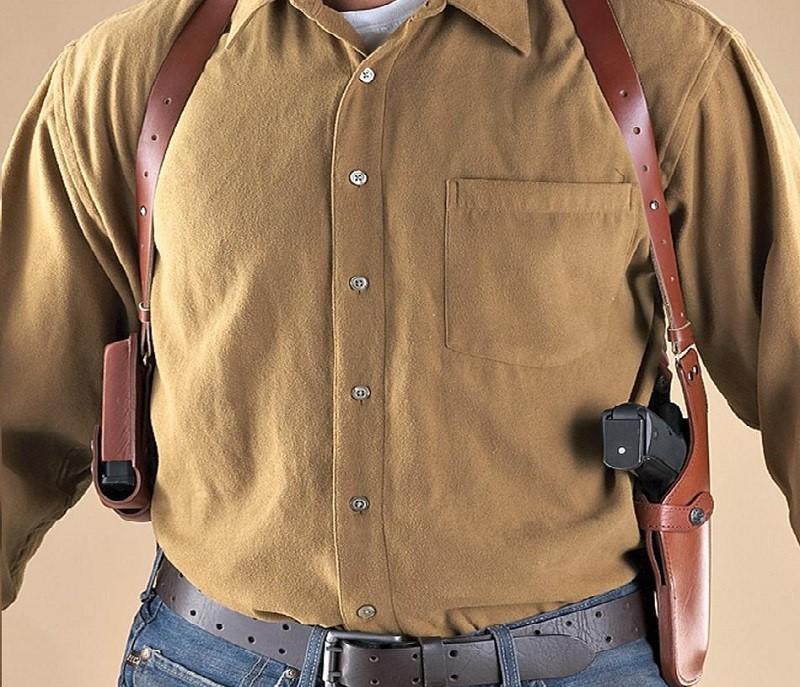 Triple K Deluxe leather shoulder holster brown