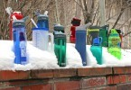 Water bottles outdoor