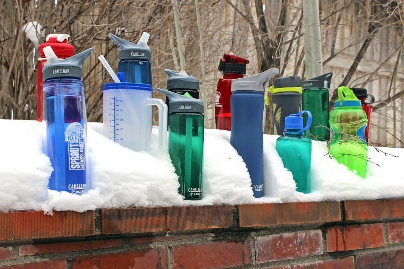 Water bottles outdoor