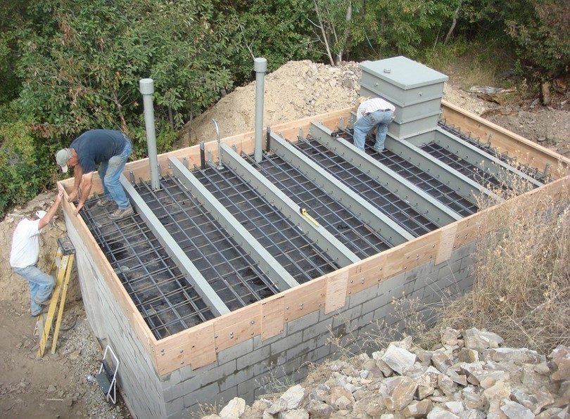 how to build underground concrete basement