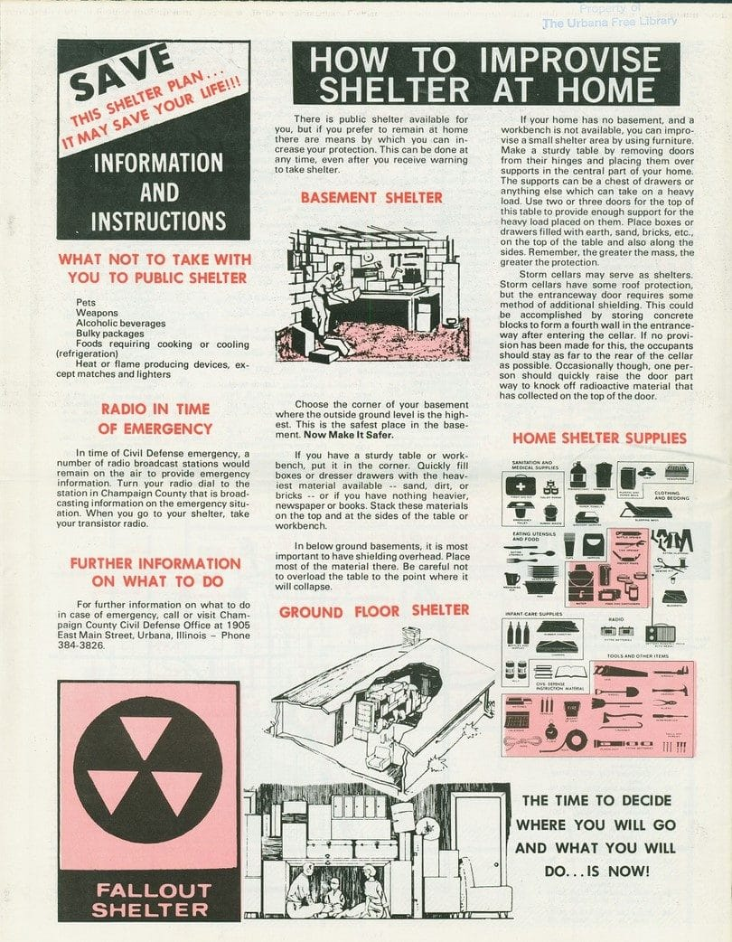 Fallout shelter at home