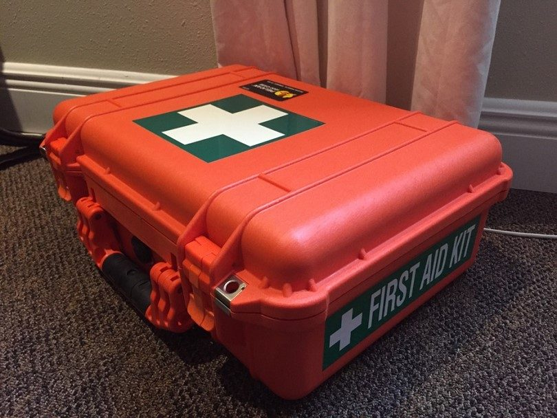 First aid in a case