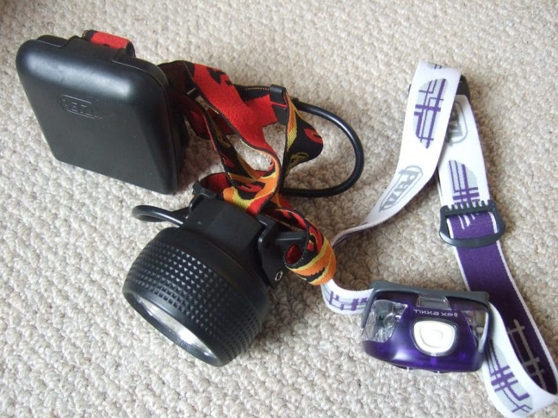 Head torch for camping