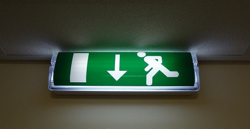 Identify exit routes