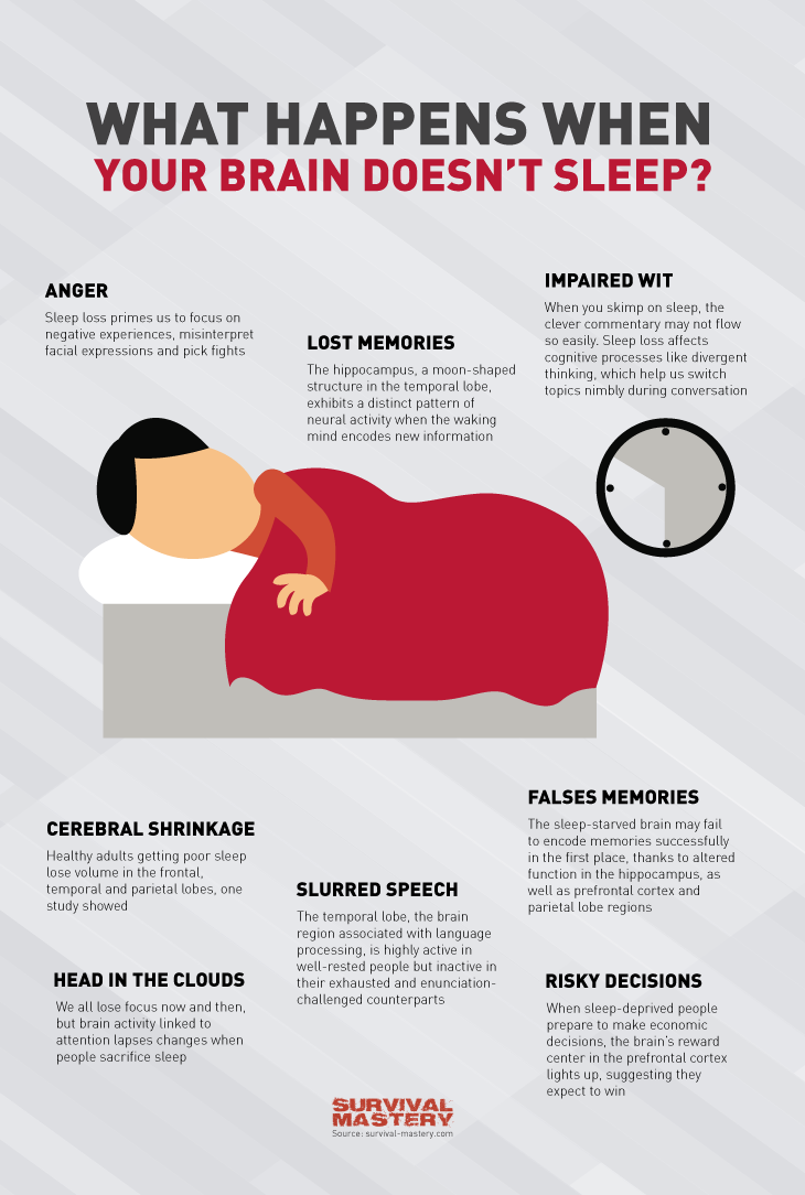 When your brain doesn't sleep infographic