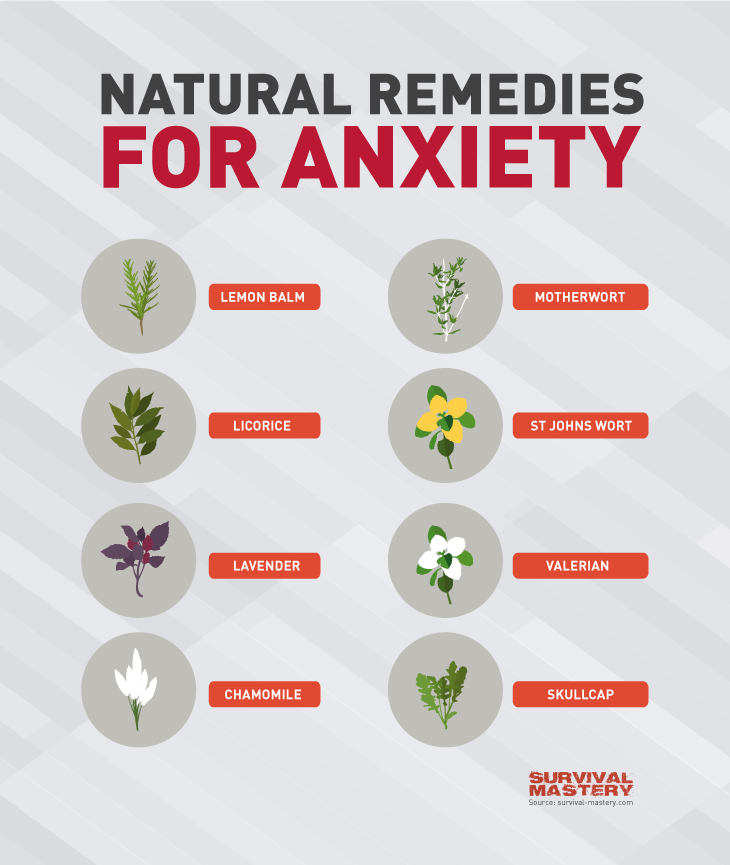 Remedies for anxiety infographic