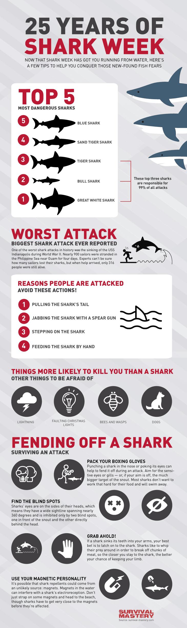 Shark week infographic