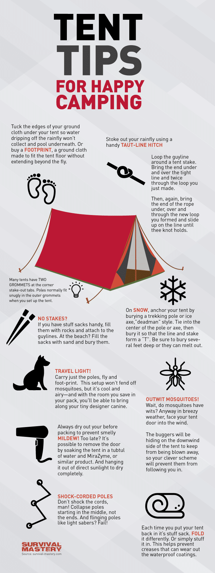 Happy camping infographic