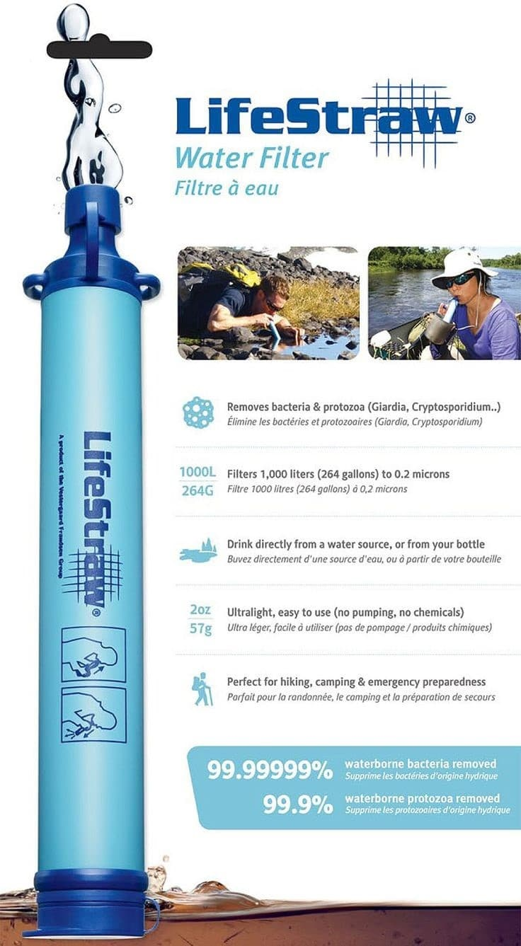 life straw Edit about lifestraw is a portable toilet water purification product designed by dea thcup and.