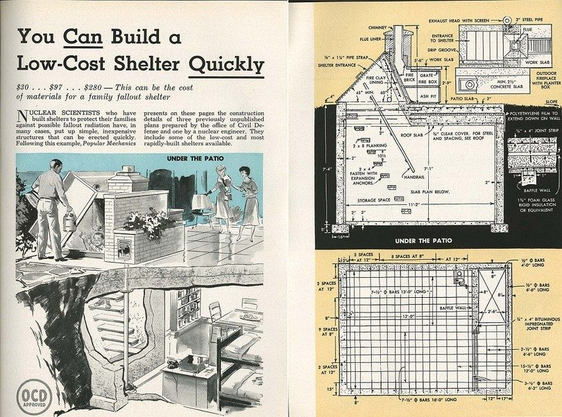 Low cost bomb shelter