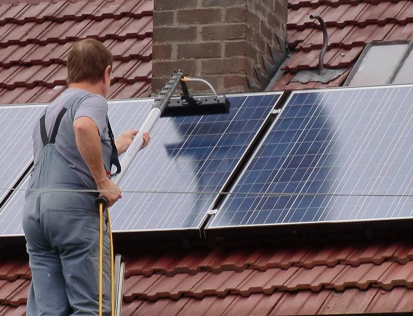 Maintenance of a solar panel